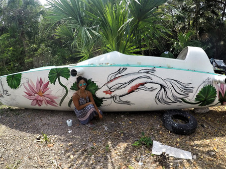 Painting Boats in Bacalar