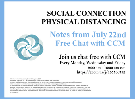 Reassessing Boundaries |Notes from 7/22/20 Free Chat with CCM