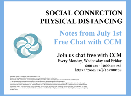 Ambivalence is OK | Notes from 7/1/20 Free Chat with CCM