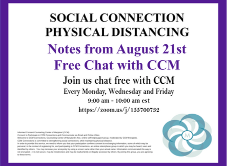 Seeing Past Ourselves|Notes from 8/21/20 Free Chat with CCM
