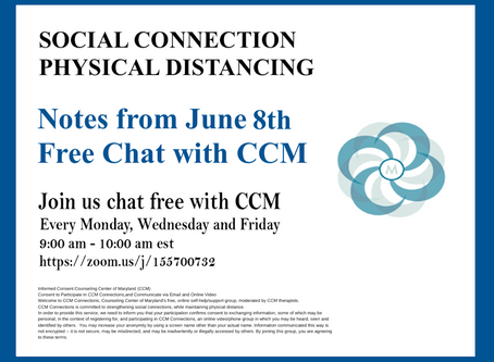 Foreboding the Future | Notes From 6/8/2020 Free Chat with CCM