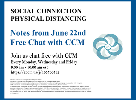 Shifting To Empathy| Notes from 6/22/20 Free Chat with CCM