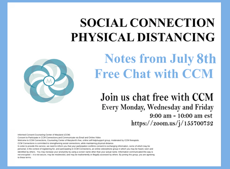 We Can't Control Others | Notes from 7/8/20 Free Chat with CCM