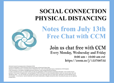 Radical Acceptance| Notes from 7/13/20 Free Chat with CCM