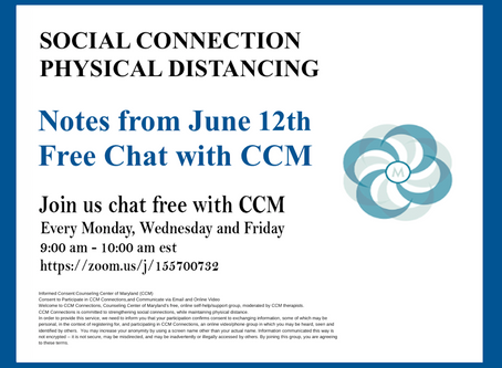 Sitting with Uncertainty| Notes From 6/12/2020 Free Chat with CCM