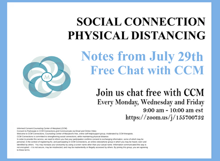 Trusting Mindfulness |Notes from 7/29/20 Free Chat with CCM