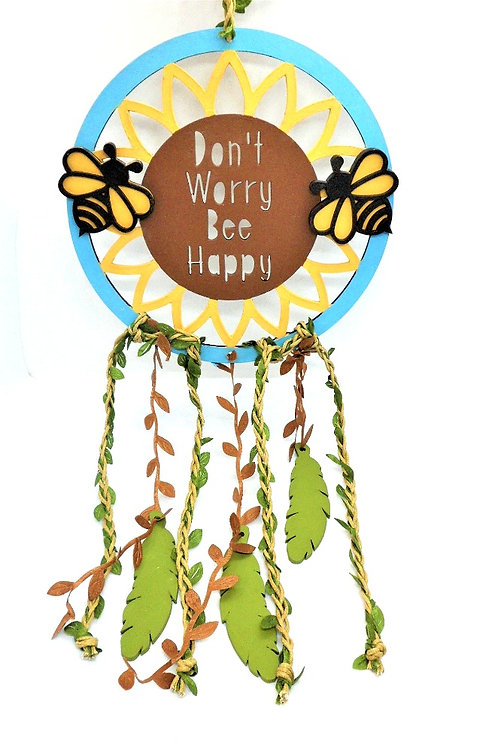 Don't Worry Bee Happy Dreamcatcher by Create, Love & Admire