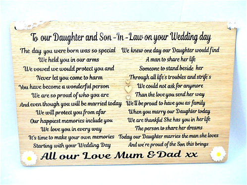Wedding Plaque by Create, Love & Admire