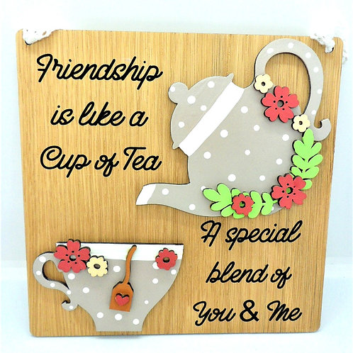 Friendship is Like a Cup of Tea Plaque by Create, Love & Admire