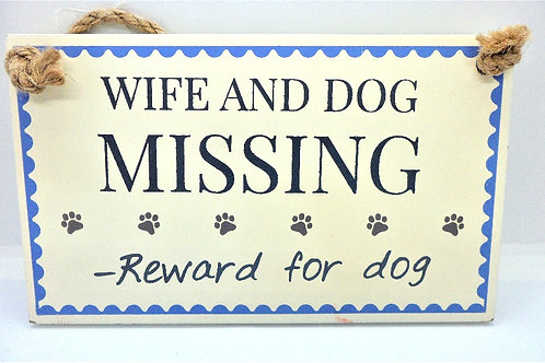 Wife and Dog Missing Plaque from Willow