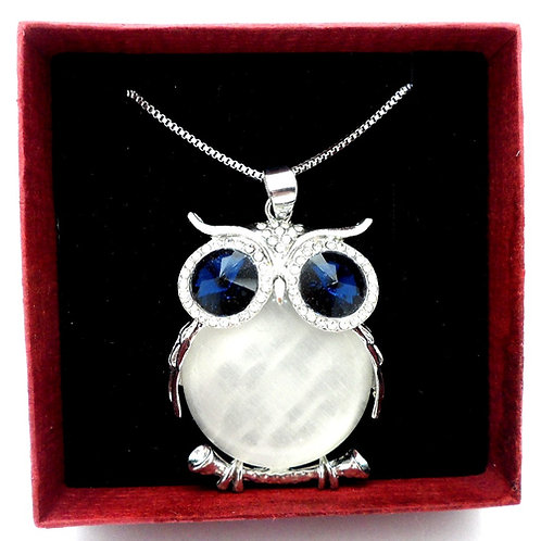 Large Owl Necklace by Sue's Sparkles