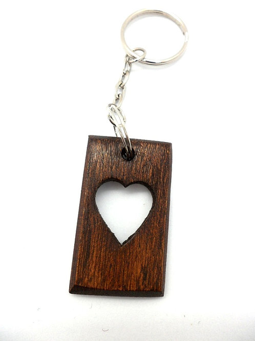 Carved Wooden Keyrings by Terry Davies Welsh Lovespoons