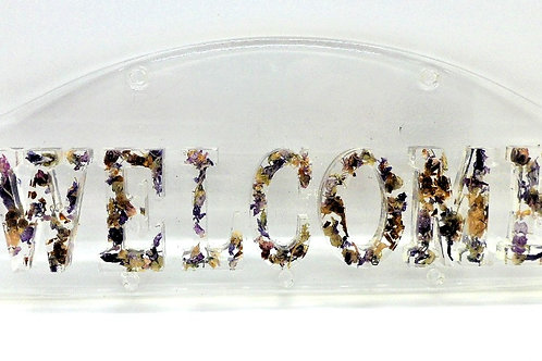 Resin & Petal Welcome Sign by New House Cottage Creations