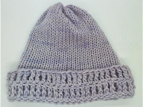 Crochet Trim Woollen Hat by Jenny Knoll Yarns
