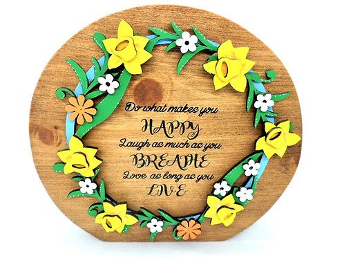 Do What Makes You Happy Self-standing Plaque by Create, Love & Admire