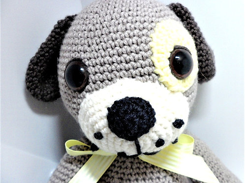 Crocheted Paige The Puppy by Happy Hobbies