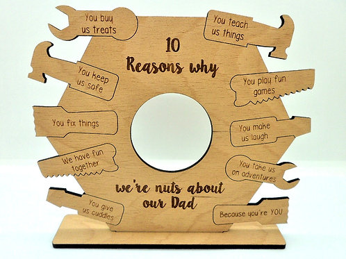 Nuts about Dad Plaque by Create, Love & Admire
