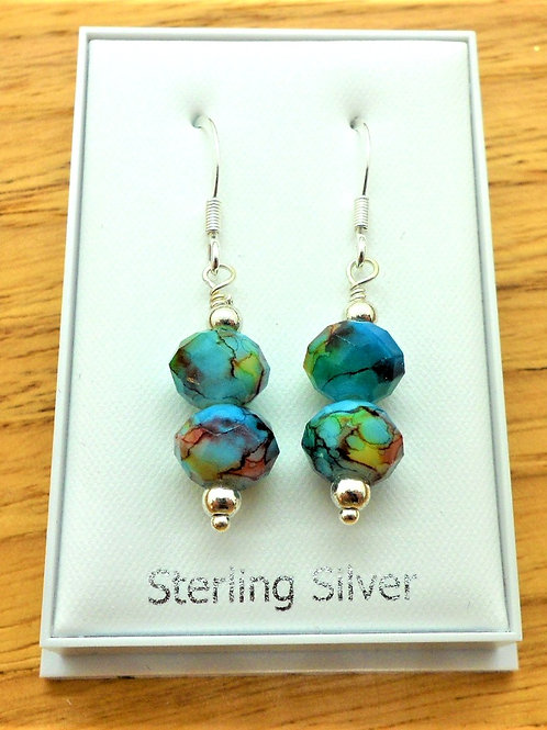 Sterling Silver Drop Earrings by Valma's Jewellery