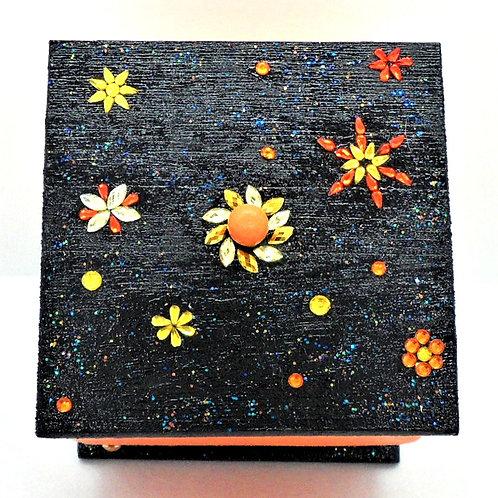 Small Orange Trinket Box by This 'n' That