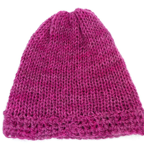 Knitted Beanie Hat by Jenny Knoll Yarns