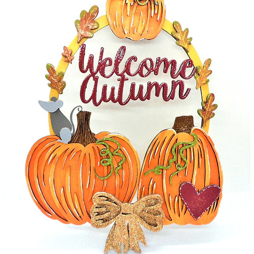 """Welcome Autumn"" Plaque by Create, Love & Admire"