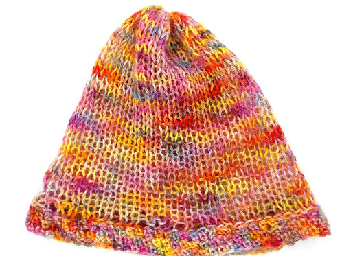 Thin Beanie Hat by Jenny Knoll Yarns