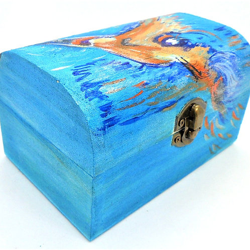 Kingfisher Decorated Box by Mutts and Stuff