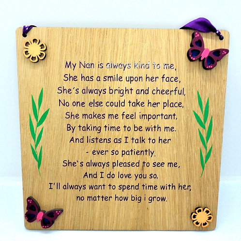 Nan Plaque by Create, Love & Admire