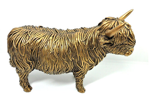 Reflections Highland Cow from Teme Trinkets