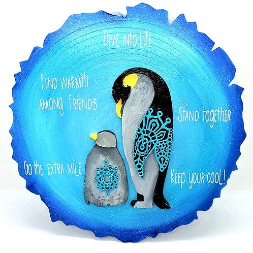 Penguin Plaque by Create, Love & Admire