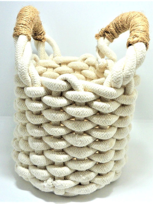 Small Rope Basket from Willow
