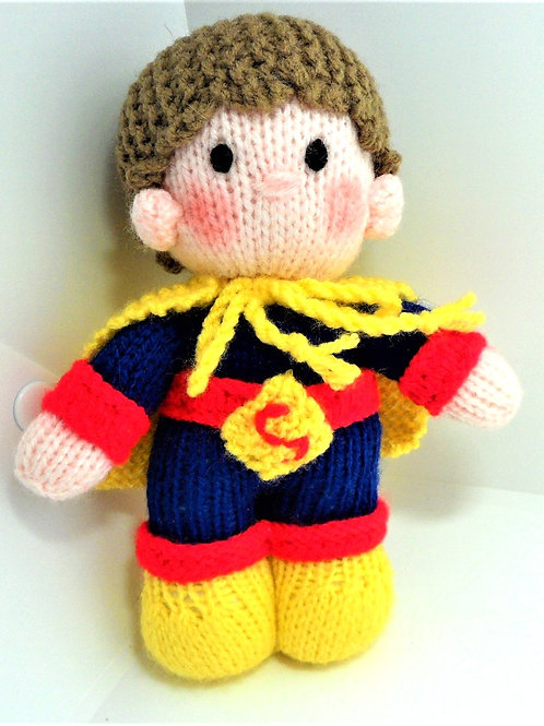 Knitted Superman Character by Natty Knitter