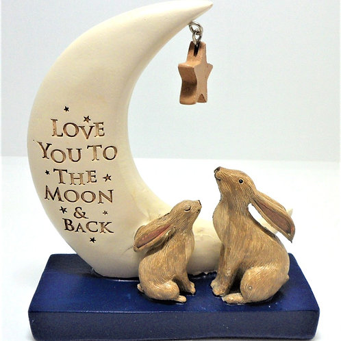 Moon and Back Ornament From Willow