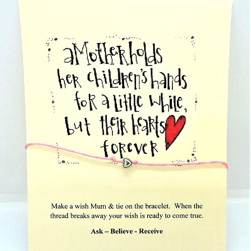 """Mum"" Slogan Card Bracelets by CG Jewellery"