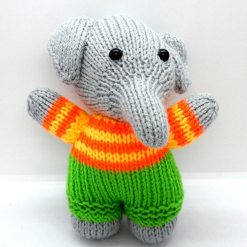 Hand Knitted Elephant by Natty Knitter