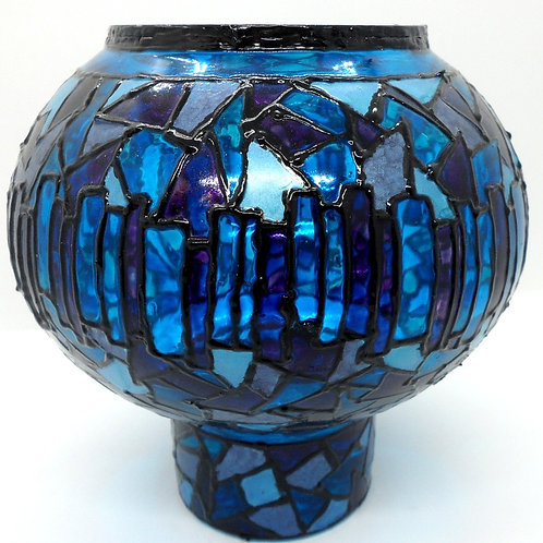 Hand Painted Glass Vases by Val Fisher