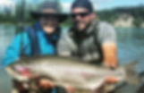 King Salmon Sized Rainbow Trout on the Kenai River in Alaska fishing with Kenai River Cowboys