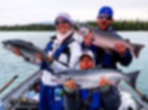 Silver Salmon fishing Kenai River Alaska great times