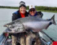 Kasilof River King Salmon Alaska guided fishing trips kenai river cowboys alaska fishing