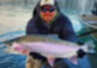 Kenai River Winter Rainbow fishing with guide matty