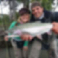 Girls Fly Fishing Kenai River Rainbows Anna