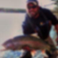 Alaska Kenai River Rainbow Trout Fishing with guide Matty hog hold