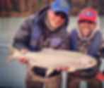 Fishing for Rainbow Trout with brother on the Kenai River in Alaska