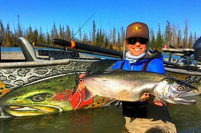 Silver Salmon Fly Fishing on the Kenai River Alaska