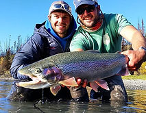 Kenai River Fishing for Trophy Rainbows with Guides Matty and Corey