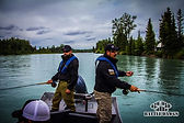 Kenai River fishing trophy rainbows salmon