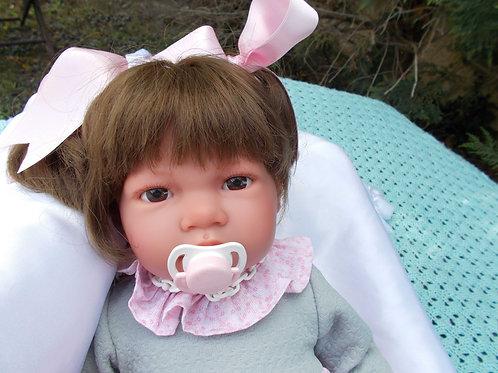 Salome  bébé jouet-reborn 49cm Alberto Asi