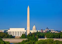 Lincoln Memorial and Washington Memorial