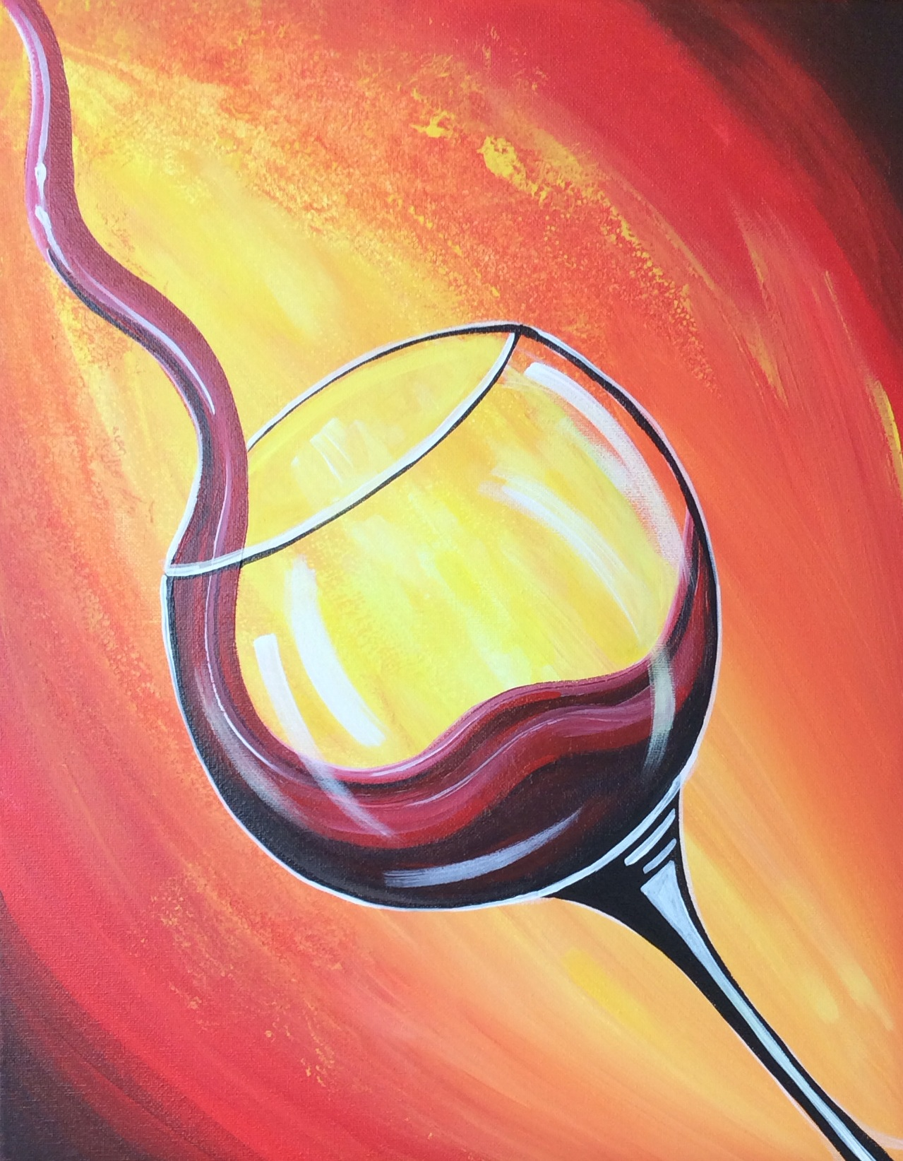 Red Wine Glass - 2 Hours
