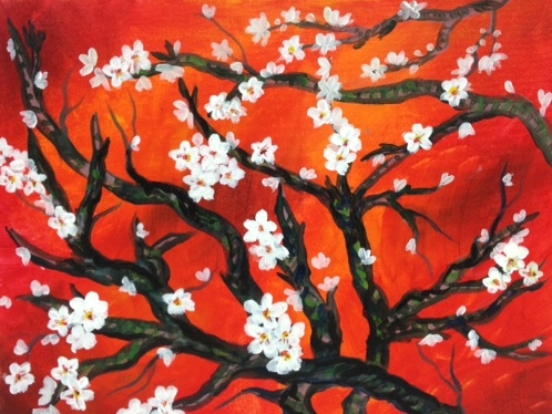 Van Gogh Red Branches -2 Hours